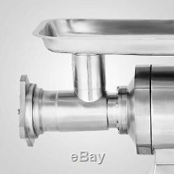 1.5HP Commercial Meat Grinder Sausage Stuffer 450lbs/h Stainless Steel Automatic