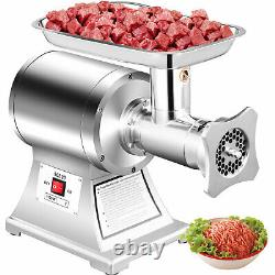 1.5HP Meat Grinder Stainless Steel 220 RPM Electric Commercial Sausage Maker