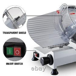 10 Blade Commercial Meat Slicer Stainless Meat Cutter Cheese Food Slicer