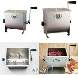 10 Qt. Manual Stainless Steel Meat Stand Mixer
