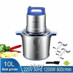 10L Kitchen Meat Food Cutter Chopper Stainless Steel Electric Processor For Home