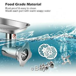1100W Commercial Grade Electric Meat Grinder Stainless Steel Heavy Duty US