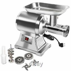 1100W Commercial Stainless Steel Electric Meat Grinder Heavy Duty #22 Small Bone