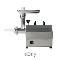 140W Stainless Steel Home Use Electric Meat Grinder Mincer Sausage Stuffer 5mm