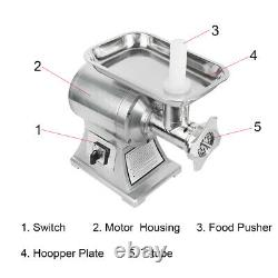 150kg/H Commercial Household Electric Stainless Meat Grinder Machine Durable