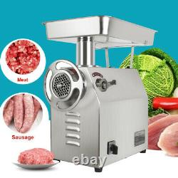 1800W 350Kg/H 770Lbs/H Commercial Stainless Electric Meat Grinder Machine US