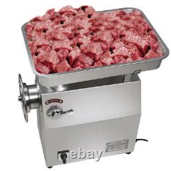 1800W 350Kg/H 770Lbs/H Commercial Stainless Electric Meat Grinder Restaurant Use