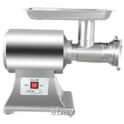 1HP Electric Meat Grinder 750W 2 Knives Stainless Steel Mincer Stuffer Beef
