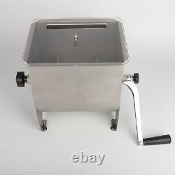 20 lbs Manual Meat Mixer Stainless Steel Commercial Kitchen Meat Hopper Sausage