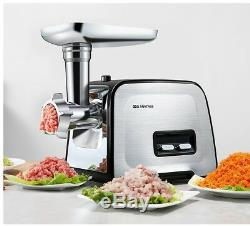 220V 400W Commercial/Household Grade Electric Meat Grinder Stainless Steel US