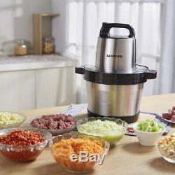 220V Stainless Steel Electric Meat Grinder Crushed Garlic Pepper cutter 6L 1KW