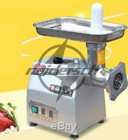220v Commercial stainless steel 120kg/h Watt Electric Meat Grinder 0.65kw YQ-12