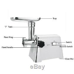 2800W Electric Meat Grinder Sausage Food Stuffer Maker Stainless Steel Kitchen