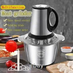2L/3L Stainless Steel Electric Automatic Meat Grinder Household Mincer vegetable