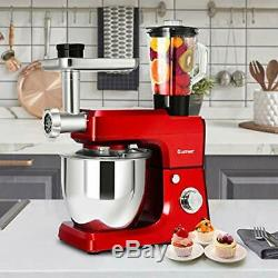3 In 1 Upgraded Stand Mixer Stainless Steel Bowl Blender Meat Grinder Sausage