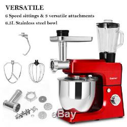 3 In 1 Upgraded Stand Mixer with 7 Quart Stainless Steel Bowl Kitchen Appliance