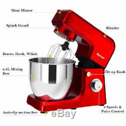 3 In 1 Upgraded Stand Mixer with 7QT Stainless Steel Bowl Meat Grinder Blender