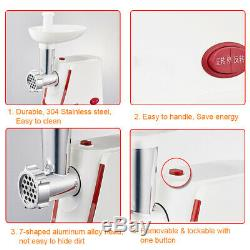3000W Electric Meat Grinder Sausage Stuffer Maker Stainless Cutter Home White k