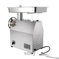 350Kg/H Commercial Electric Meat Grinder 1800W Stainless Steel Restaurant Home