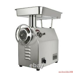 350Kg/H Commercial Electric Meat Grinder Machine 1800W Stainless Restaurant Home