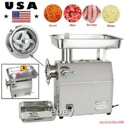 350kg/H Commercial Electric Meat Grinder 1800W Stainless Steel f Restaurant Home