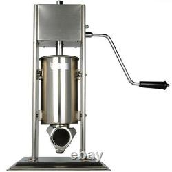 3L Manual Vertical Sausage Stuffer Meat Filler Machine Stainless Steel Brand New