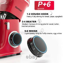 3in1 Food Stand Mixer with 8.5QT Stainless Steel Bowl Meat Grinder Blender 6 Speed