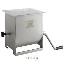 44 lb. 7 Gallon Meat Mixer Removable Paddles Meat Processing Stainless Steel New