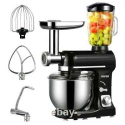 500w 3In1 Stand Mixer Stainless Steel 5QT Bowl Meat Grinder Blender 6 Speed 5L