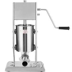 5L Stainless Steel 304 Commercial Restaurant Sausage Stuffer Press Dual Speed