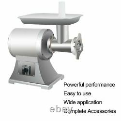 650W Commercial Electric Meat Grinder Machine 150kg/H+2 Blades Stainless Steel