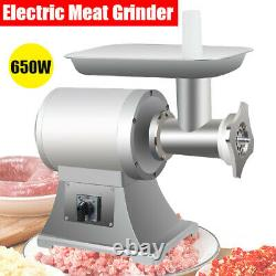 650W Electric Meat Grinder Stainless Steel Sausage Maker Mincer Cutter Stuffer