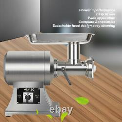 650W Electric Stainless Steel Household Detachable head Meat Grinder Machine NEW