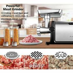 Aobosi Electric Meat Grinder &x30102000W Max &x3011Heavy Duty Stainless Steel