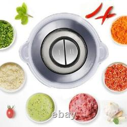BioloMix 2 Speeds 500W Stainless steel 2L Capacity Electric Chopper Meat Grinder