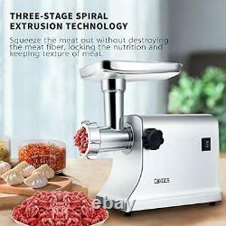 CAMOCA Meat Grinders for Home Use Stainless Steel Meat Grinder Electric Heavy