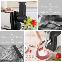 Camoca Meat Grinders For Home Use, Stainless Steel Meat Grinder Electric, 1600W