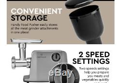 ChefWave Electric Meat Grinder ETL&FDA certified Stainless Steel Heavy Duty 1