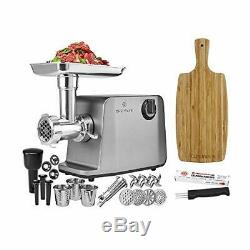 ChefWave Electric Meat Grinder Stainless Steel Heavy Duty 1800W Max 3-Speed