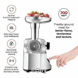 Chefman Choice Cut Electric Meat Grinder, 3 Stainless Steel Grinding Plates for