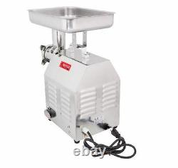 Commercial Duty Restaurant Butcher Stainless Food Meat Sausage #12 Grinder, 1 HP