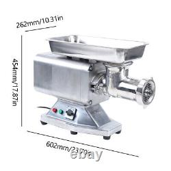 Commercial Electric Meat Grinder 1100W Stainless Steel 350kg/h Heavy Duty 110V