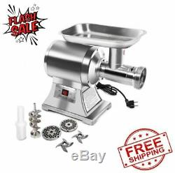 Commercial Electric Meat Grinder 1100W Stainless Steel Heavy Duty #22 Silver NEW