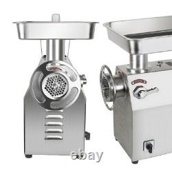Commercial Electric Meat Grinder 1800W 350Kg/H 770Lbs/H Stainless Steel Machine