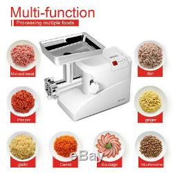Commercial Electric Meat Grinder 3 Blades Stainless Steel Heavy Duty 2000W 2.6HP