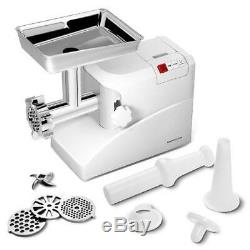 Commercial Electric Meat Grinder 3 Speeds Stainless Steel Heavy Duty 2000W 2.6HP