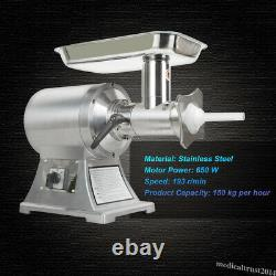 Commercial Electric Meat Grinder Sausage Stuffer Machine Stainless Steel 150kg/H