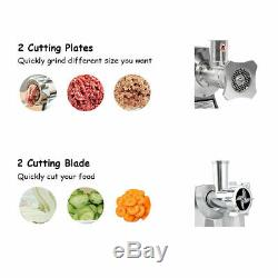 Commercial Grade 1HP Electric Meat Grinder 1100W Stainless Steel Heavy Duty #22