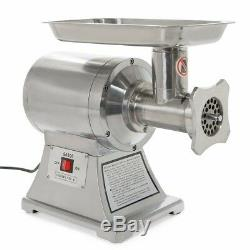 Commercial Grade 1HP Electric Meat Grinder 1100W Stainless Steel Heavy Duty New