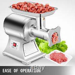 Commercial Grade 1HP Electric Meat Grinder 750W Stainless Steel 550lbs/h
